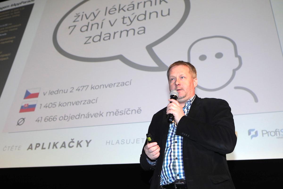 Aplikaci Lékárna.cz prezentoval na AppParade Zdeněk Fekar
