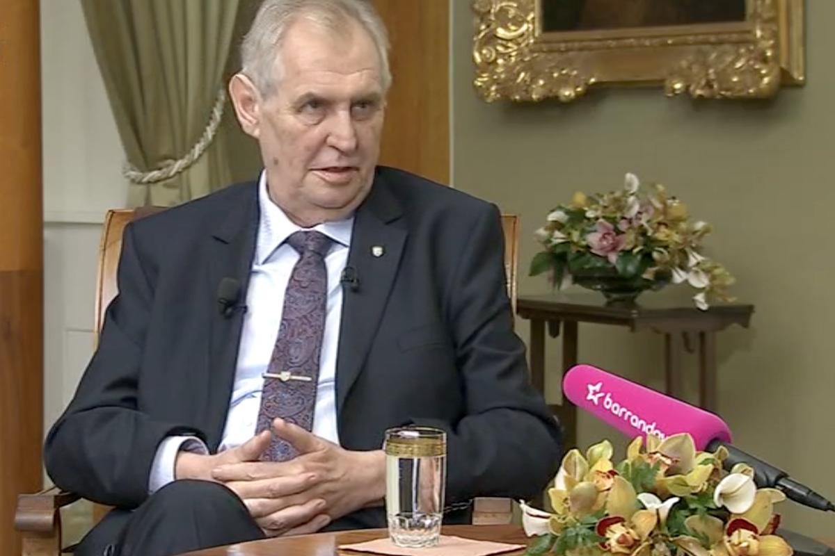 Miloš Zeman na Barrandově