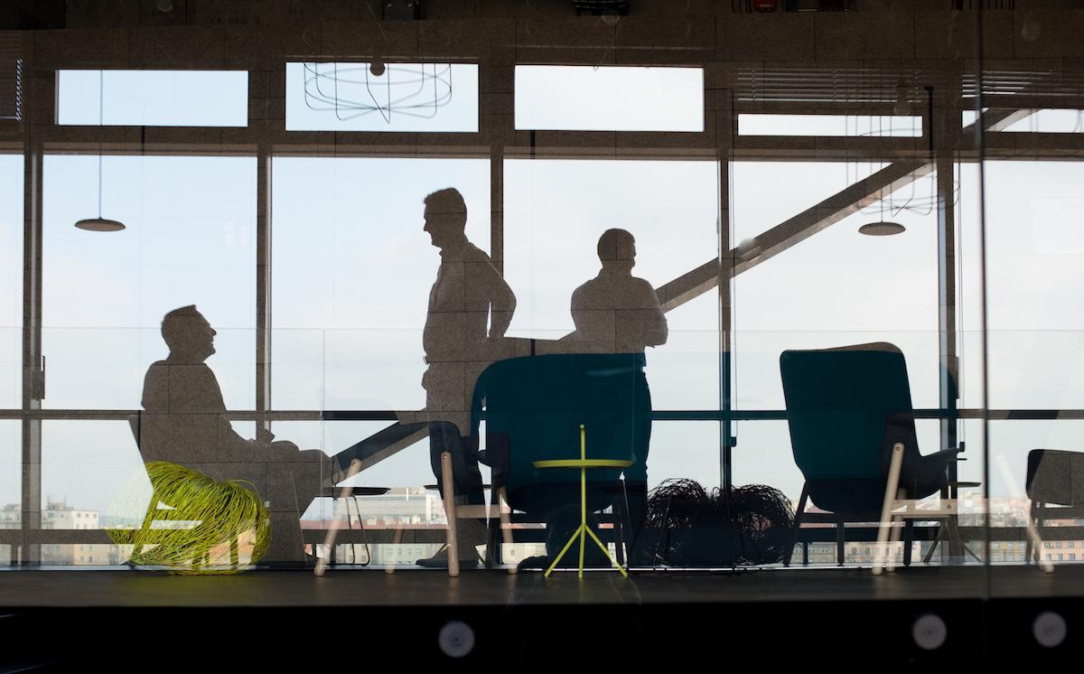 V kancelářích Dentsu Aegis v holešovickém Art Genu. Foto: David Bruner