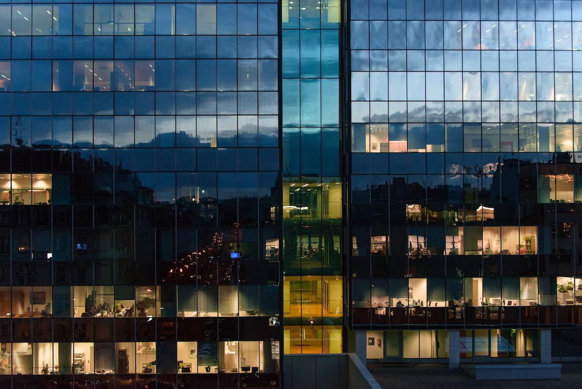 Pohled z kanceláře Tomáše Vargy. Foto: David Bruner