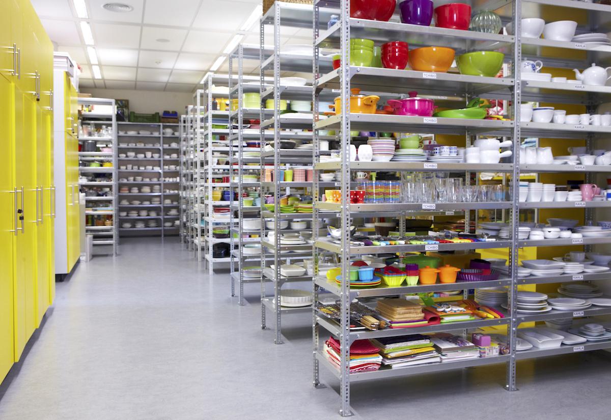 Rekvizitárna kuchyňského studia v Bauer Media
