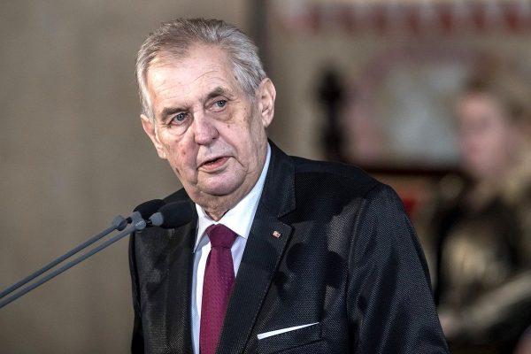 Zeman v projevu zkritizoval ČT a Bakalova média