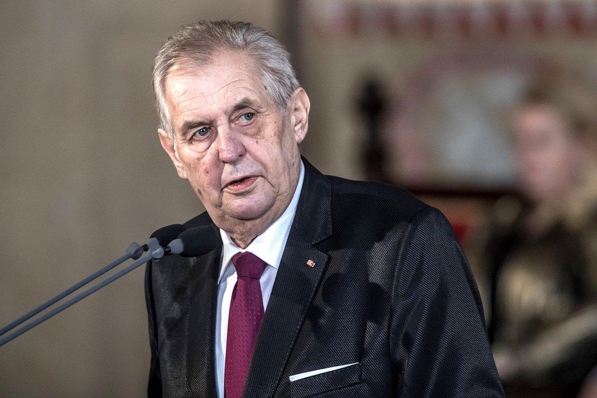 Miloš Zeman při dnešní inauguraci. Foto: Profimedia.cz