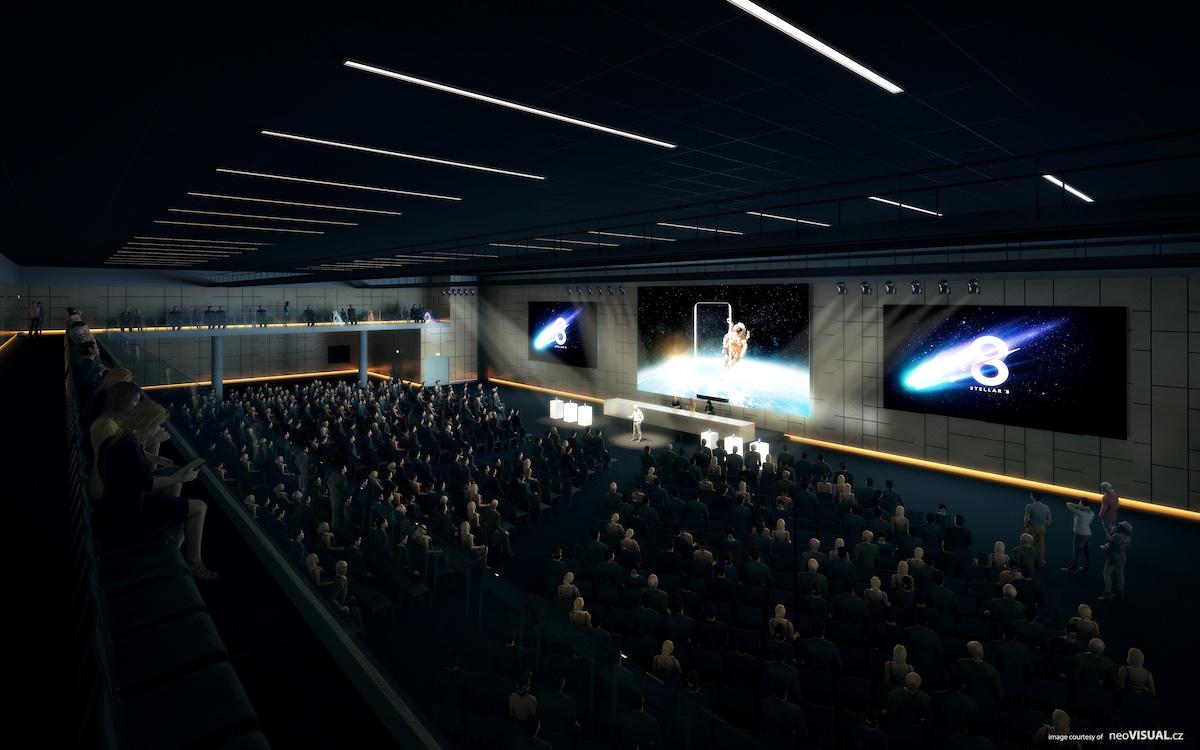 Vizualizace interiéru O2 Universum