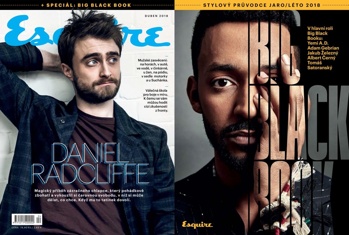 Titulní strana dubnové Esquiru (vlevo) a jeho přílohy o módě