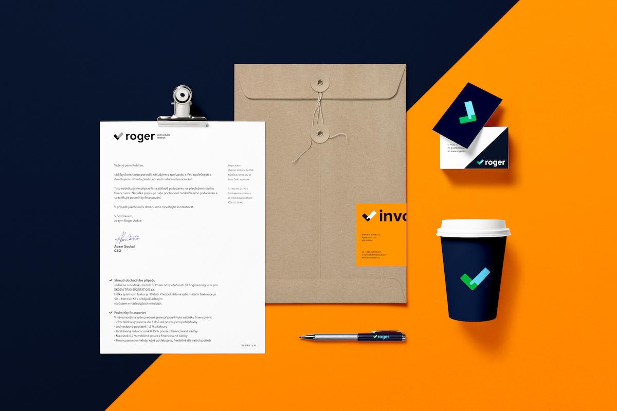 Nová vizuální identita Platební instituce Roger od Studia Košátko