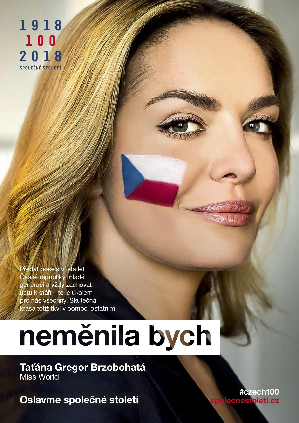 Taťána Kuchařová v kampani Neměnila bych