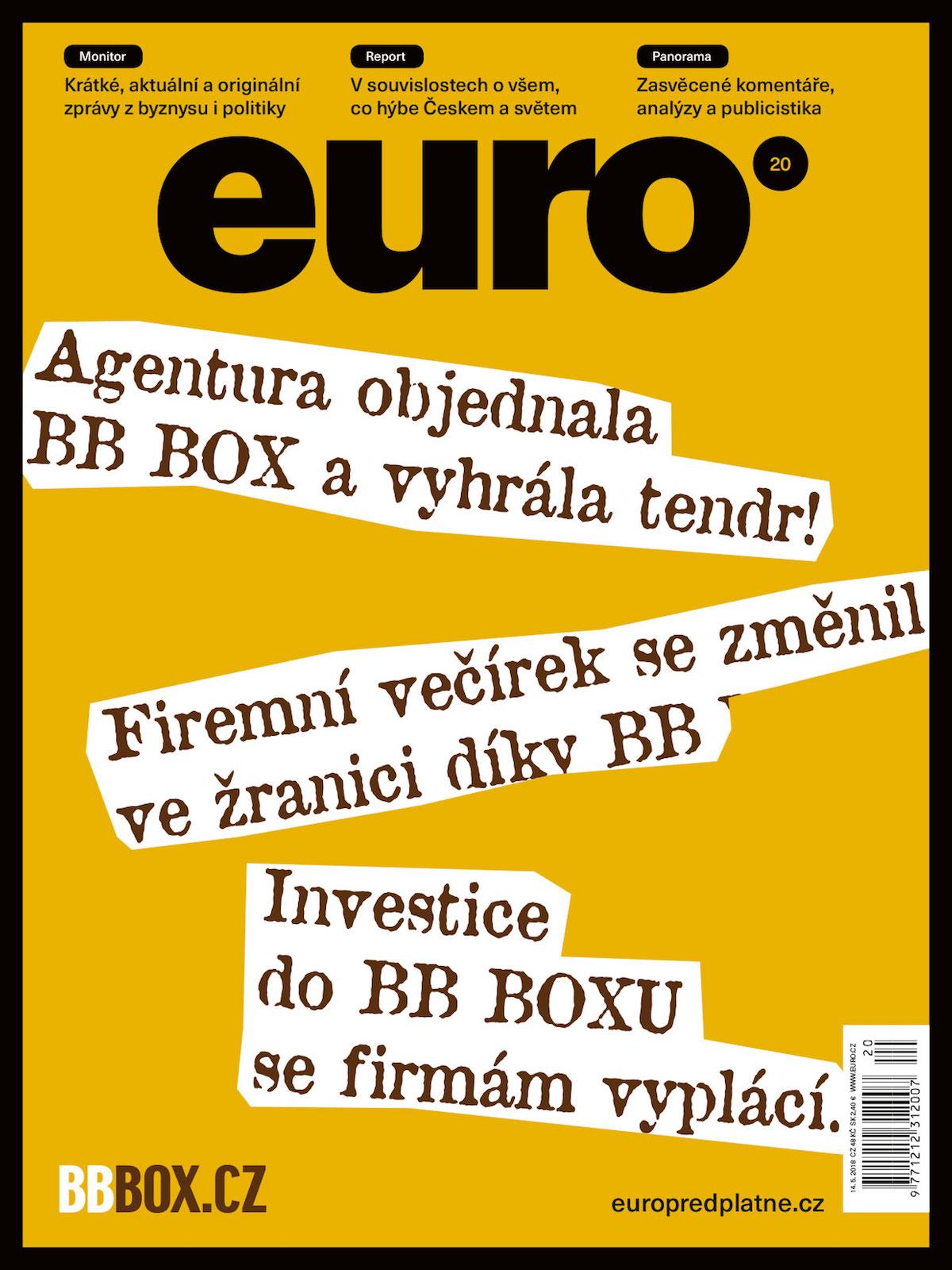 Nová podoba titulní strany týdeníku Euro, číslo 20/2018