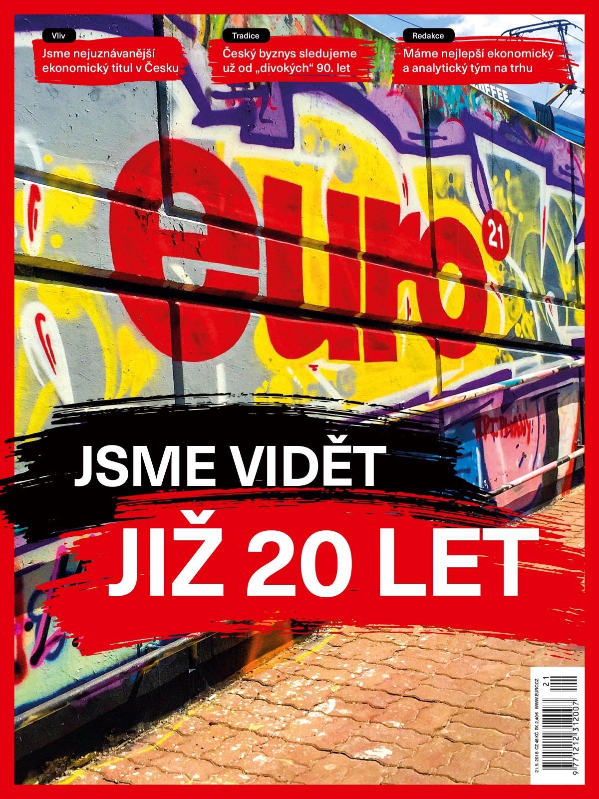 Nová podoba titulní strany týdeníku Euro, číslo 21/2018