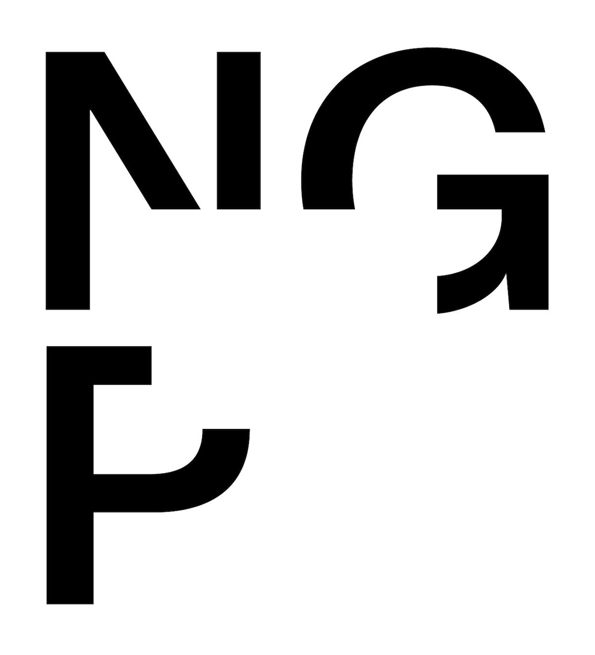 Vizuální identita zdílny Studia Najbrt je založena na výrazném logotypu, který vychází ze smyslu a poslání Národní galerie – prezentace umění.