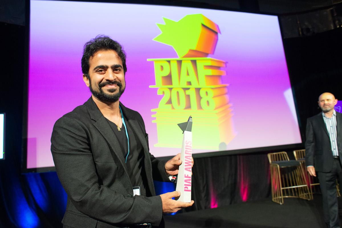 Rajiv Dingra, zakladatel a šéf indické agentury WatConsult, na slavnostním večeru PIAF
