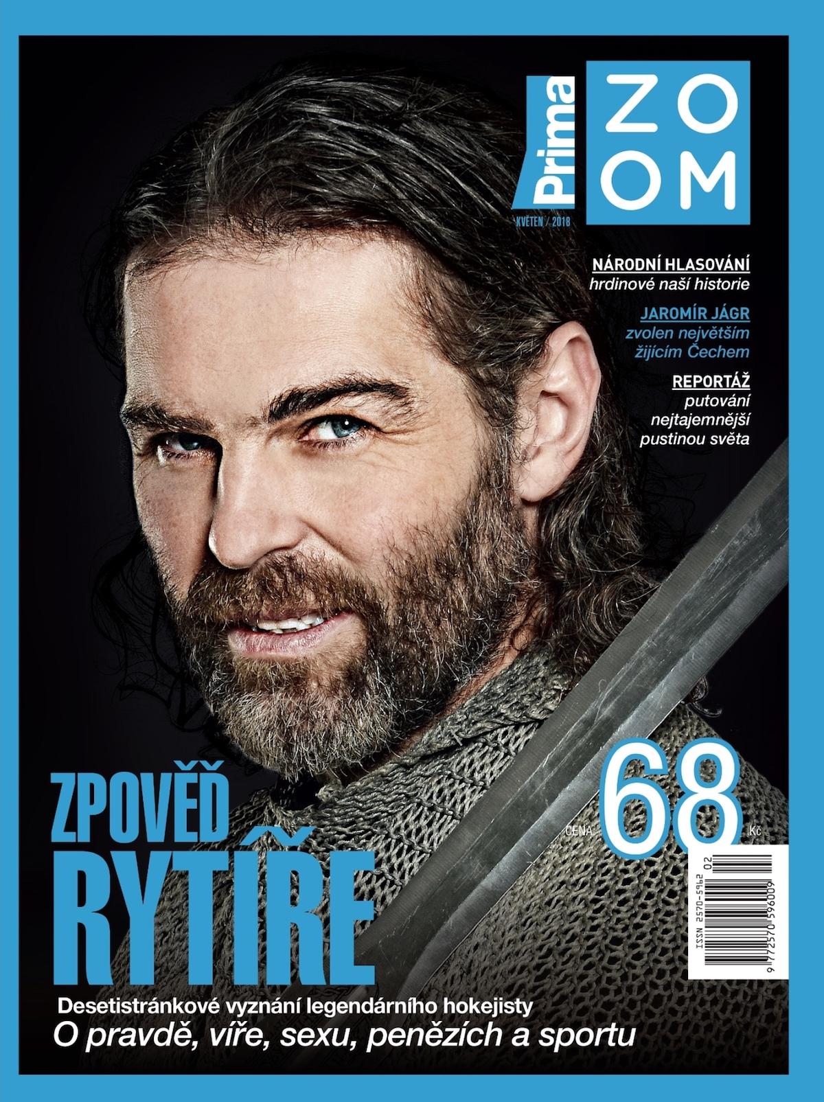 Jaromír Jágr na obálce předělaného časopisu Prima Zoom