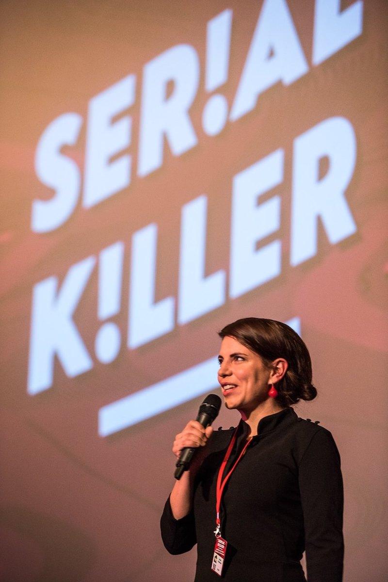 Kamila Zlatušková na zahájení festivalu. Foto: Serial Killer