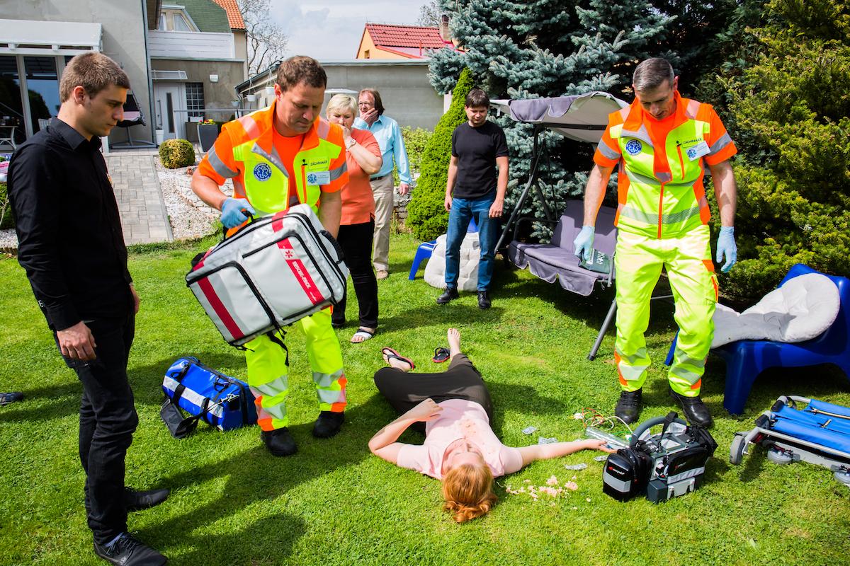 Záchranáři. Foto TV Barrandov