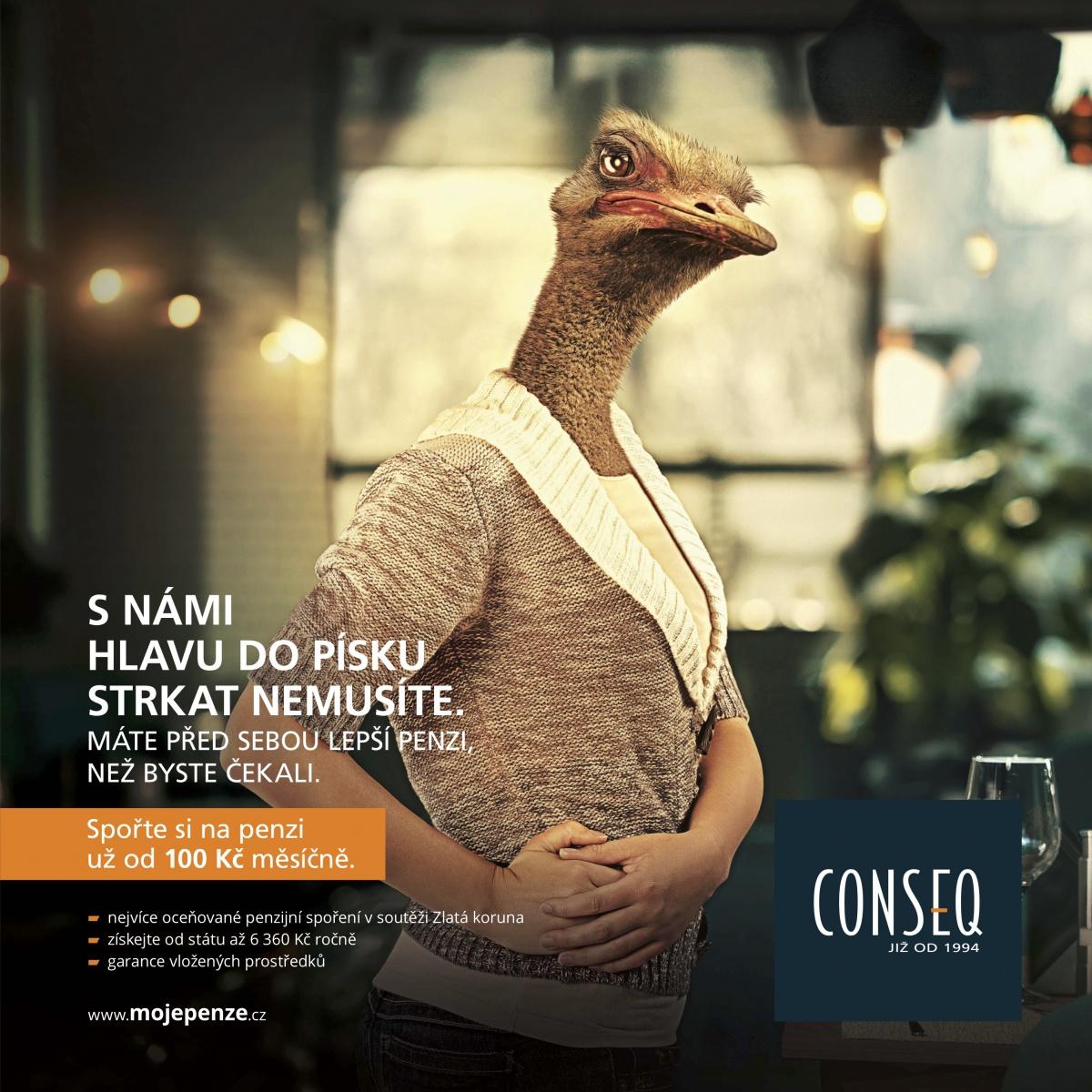 Nová kampaň Conseq na podporu penzijního spoření