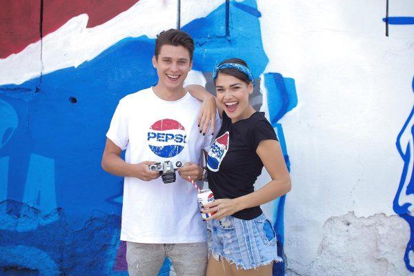 Sebastian & Andrea Kalousová před Pepsi Wall