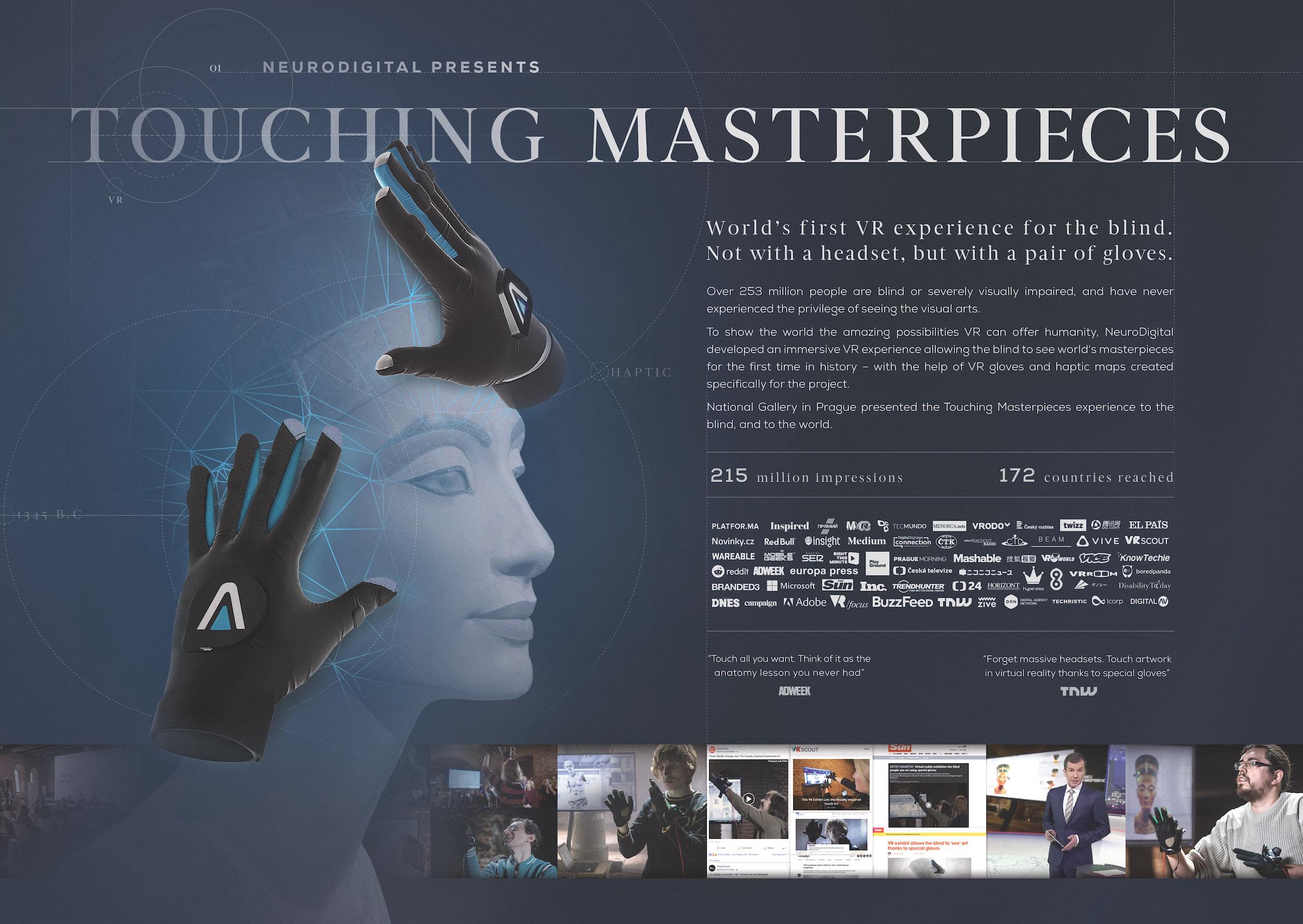 Propagační list kampaně Touching Masterpieces od Geometry Prague