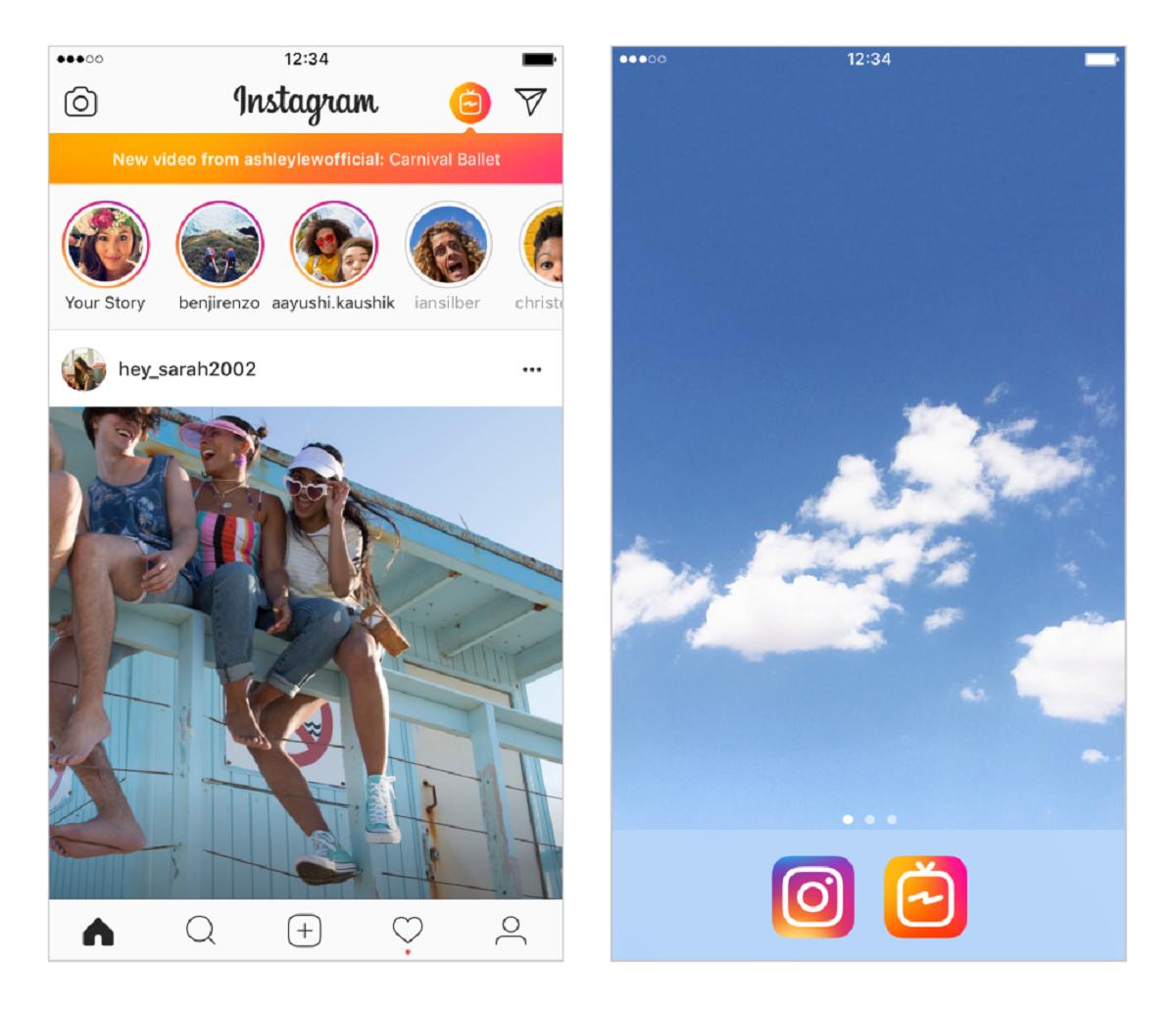 IGTV je samostatná aplikace, s Instagramem však zůstává úzce propojená
