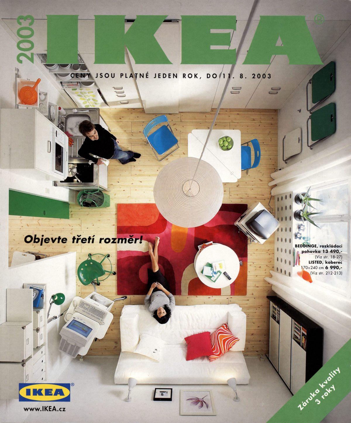 České vydání katalogu Ikea pro rok 2003