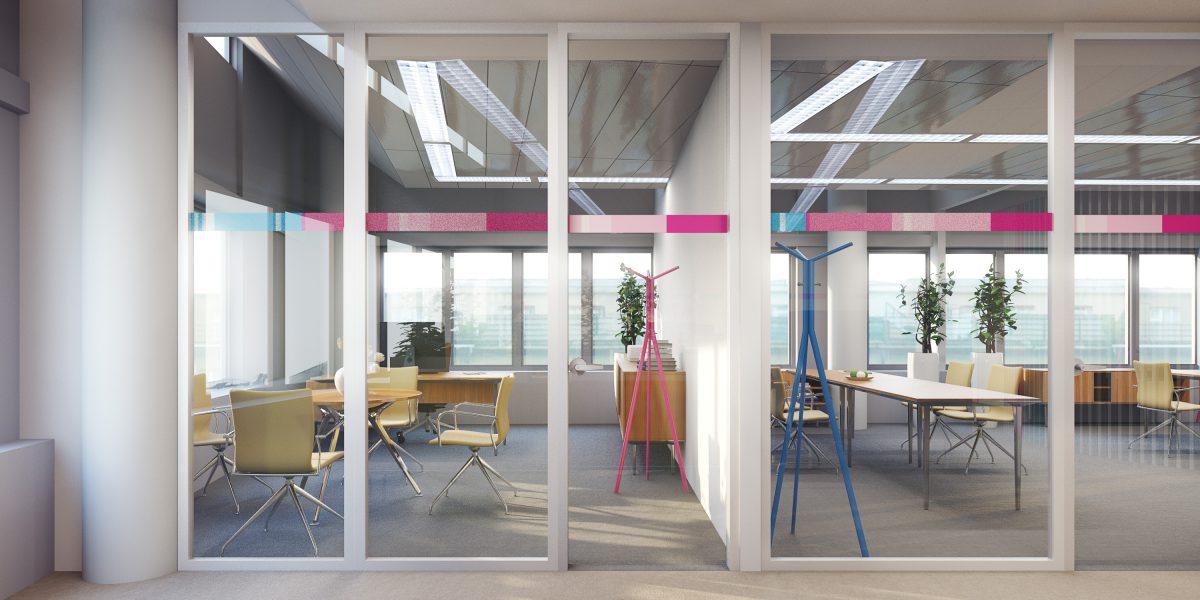 Vizualizace interiéru firemních bankéřů pro ČSOB