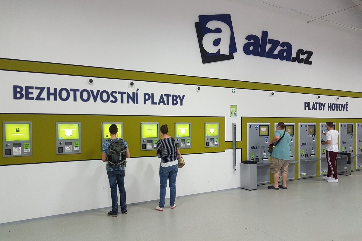 Prodej kryptoměn v platebních terminálech Alzy