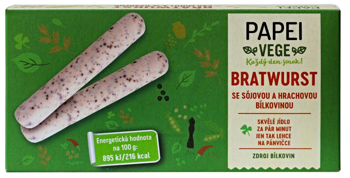 Bratwurst z řady Papei vege