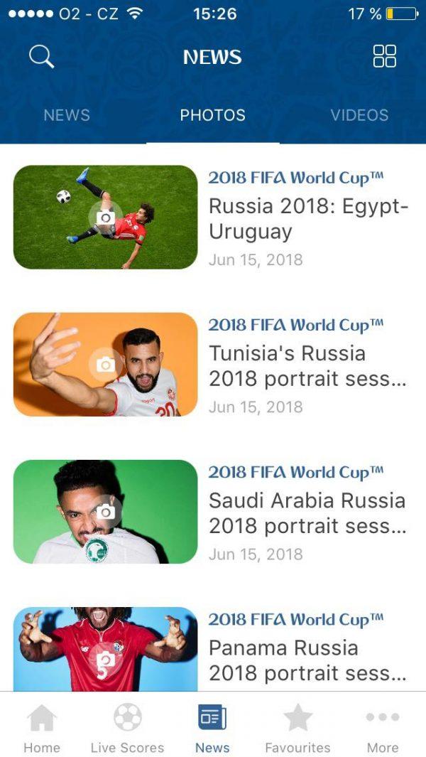 Fanoušci si mohou prohlédnout fotky i videa z mistrovství na jednom místě