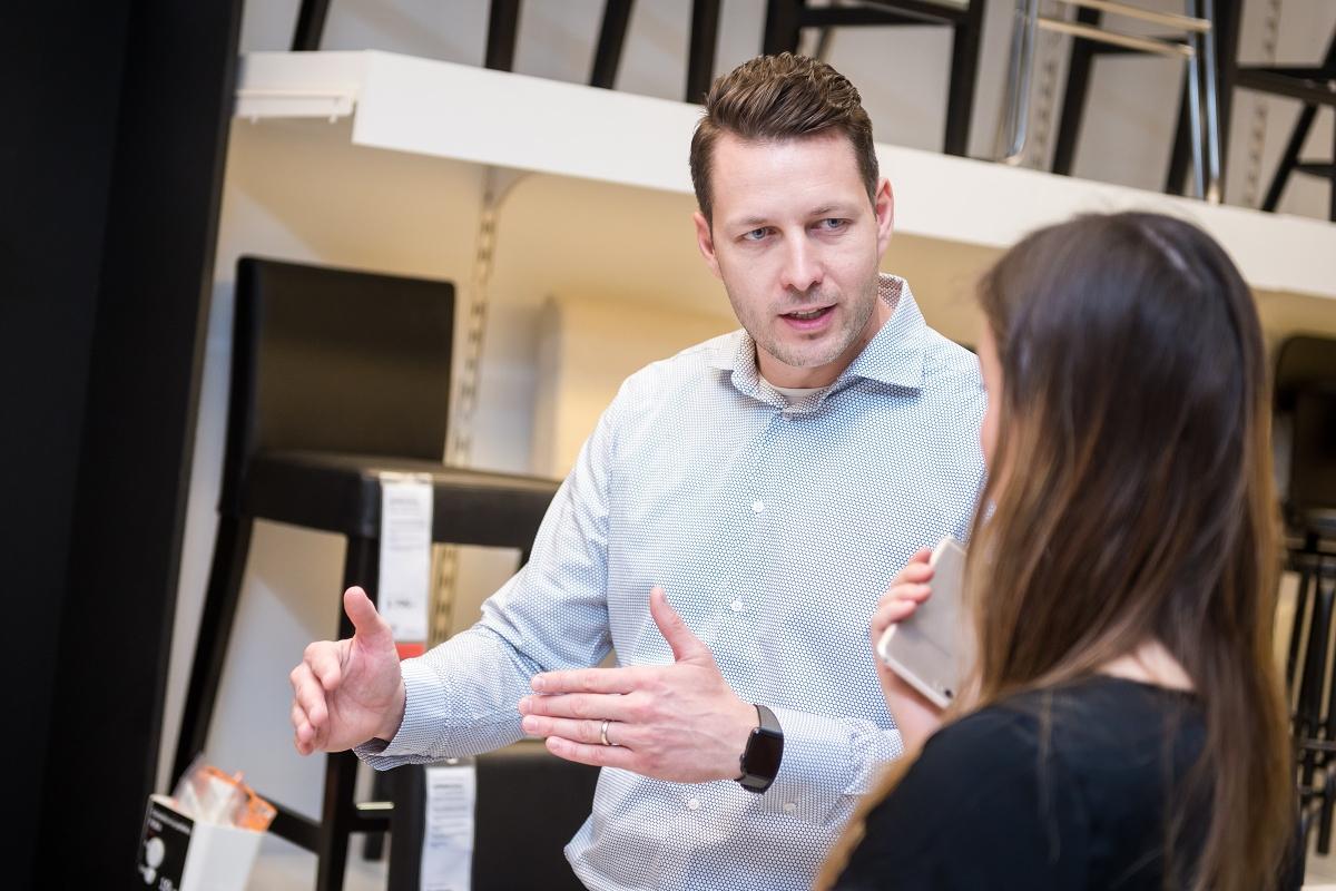 Petr Žikovský, sales manager Ikea v Česku, na Slovensku a v Maďarsku. Foto: Vojta Herout