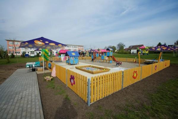 Lidl postavil první letošní hřiště pro děti