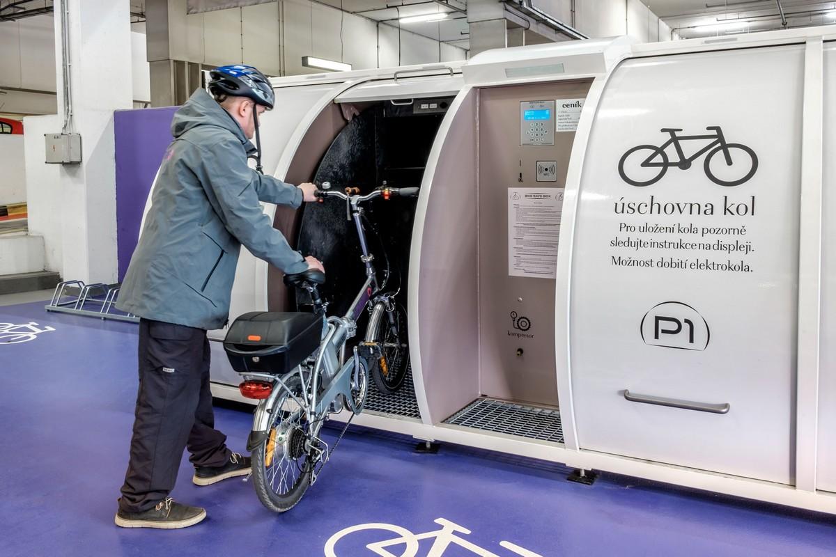 Nové Bike Safe Boxy v Centru Chodov