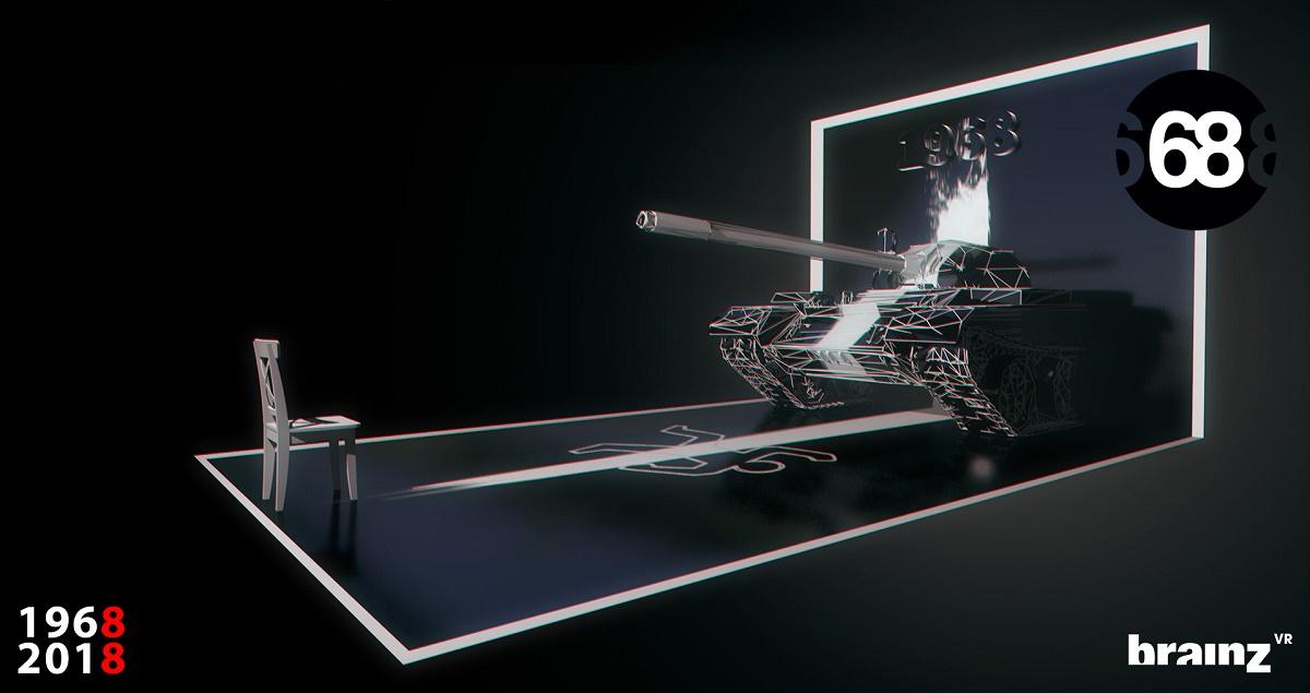 Součástí Projektu '68 bude i instalace virtuální reality, ve které mohou lidé zažít okupaci na vlastní kůži