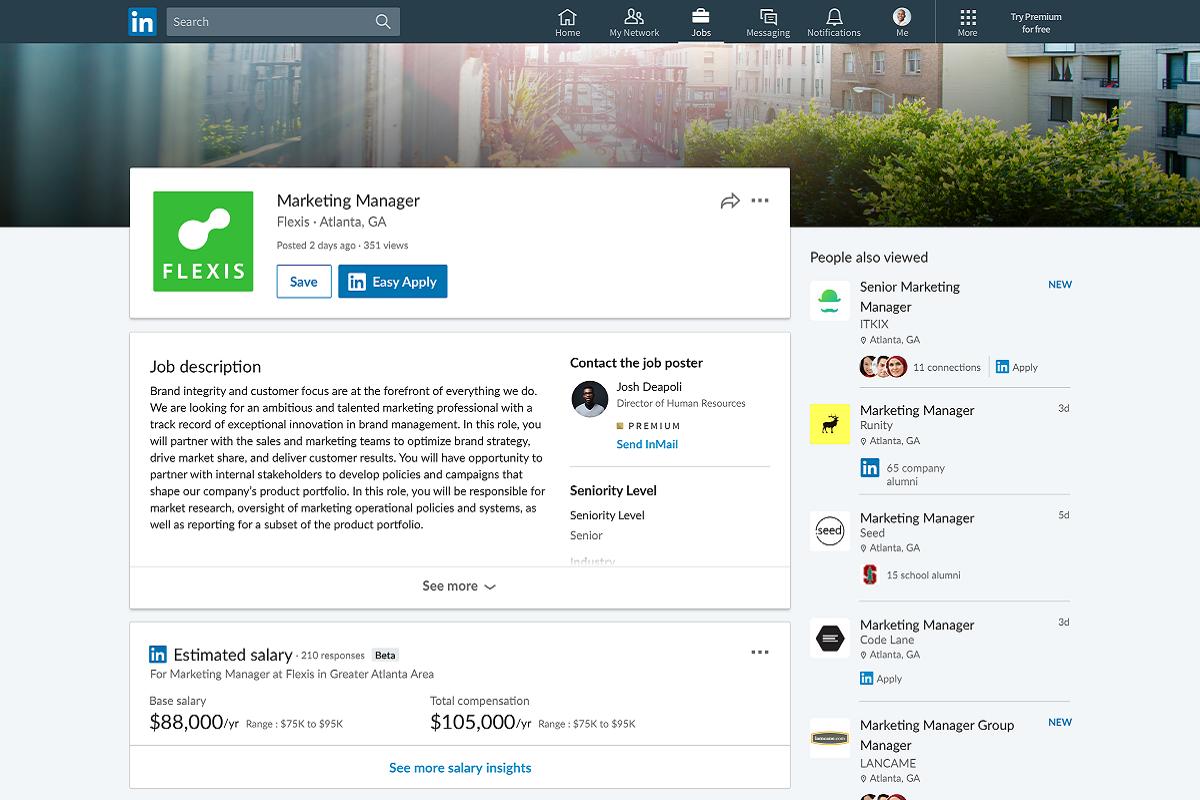 LinkedIn spouští funkci Salary Insight