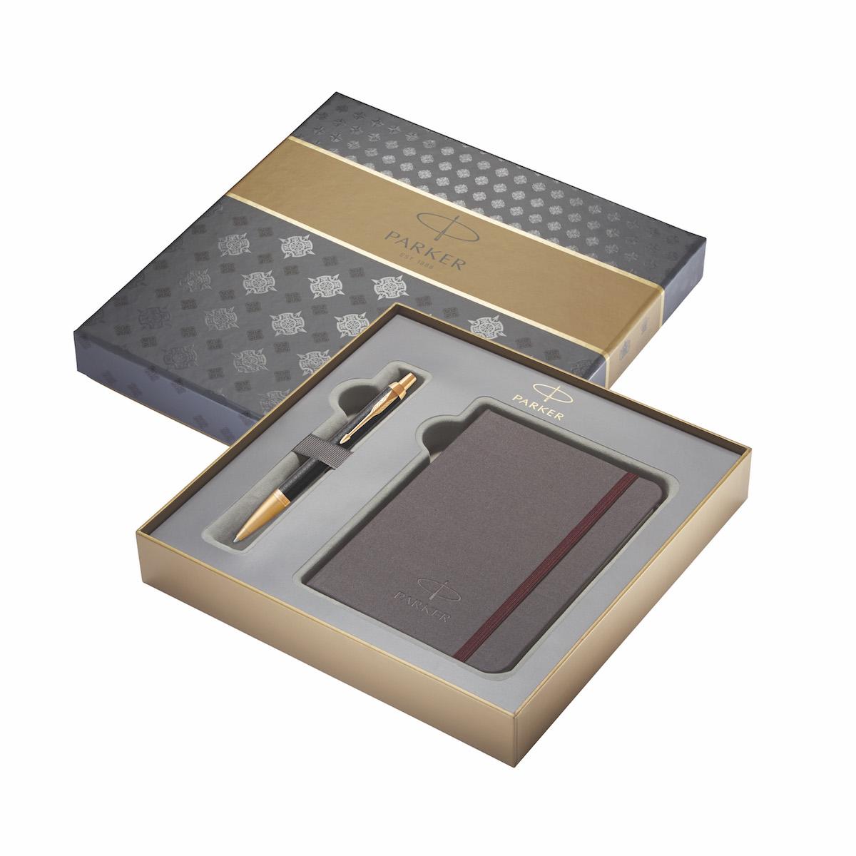 Kuličková tužka Parker IM Premium v dárkové kazetě se zápisníkem