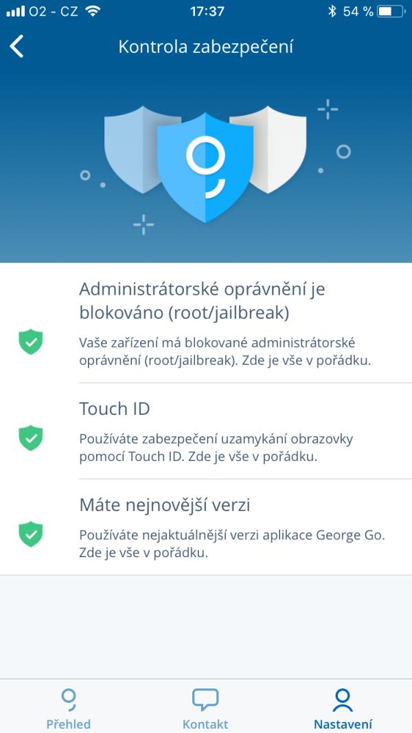 George klade důraz i na zabezpečení aplikace