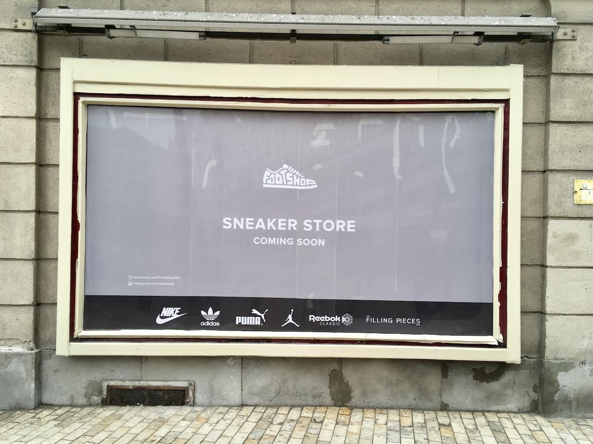Budoucí Footshop v Budapešti