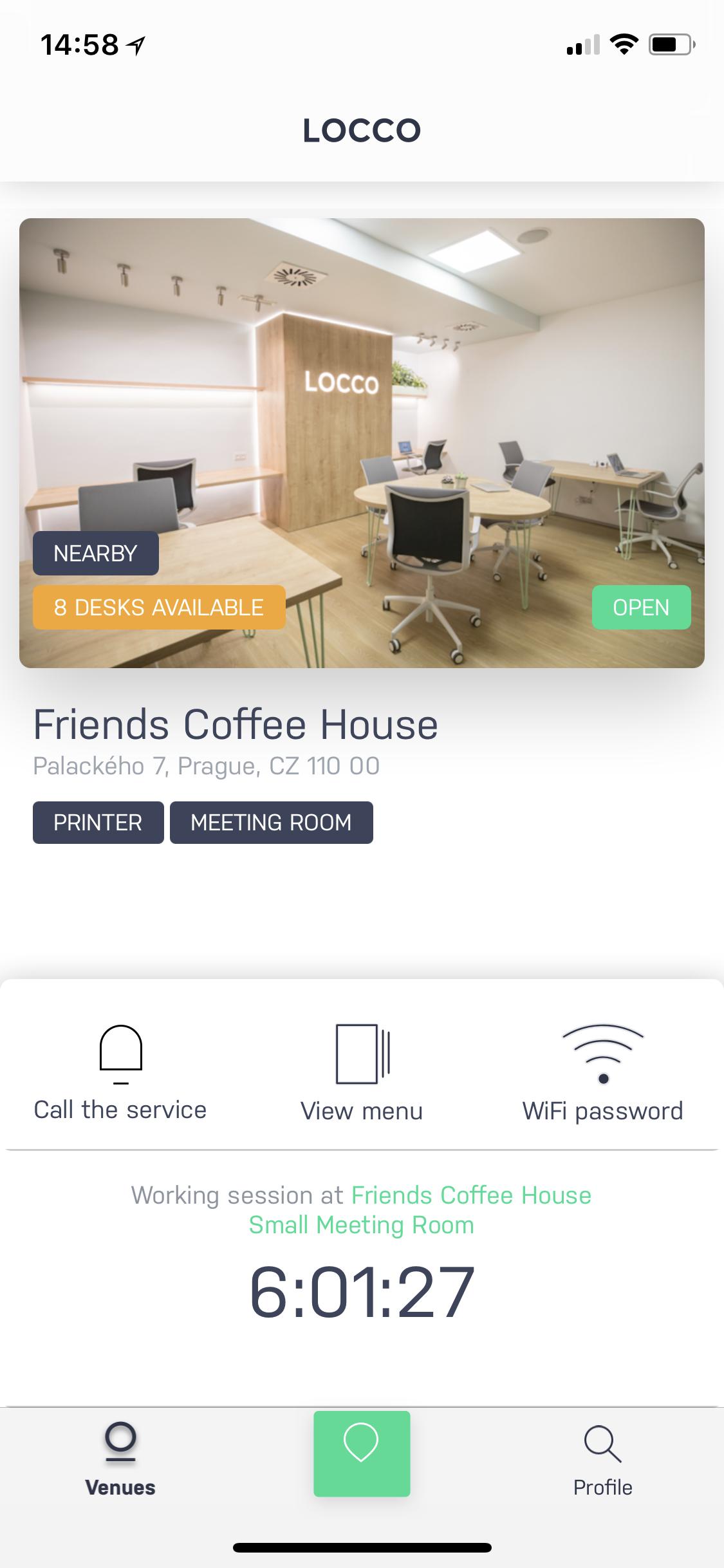 Locco má zatím pouze jednu pobočku v kavárně Friends Coffee House