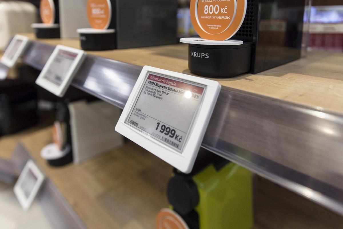Elektronické cenovky jsou součástí renovace