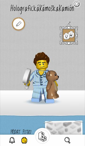Profil v prostředí sociální sítě Lego Life