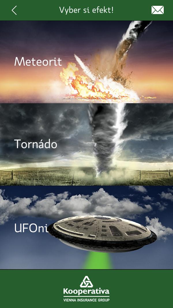 Uživatelé si do svých videí mohou přidat animace různých katastrof