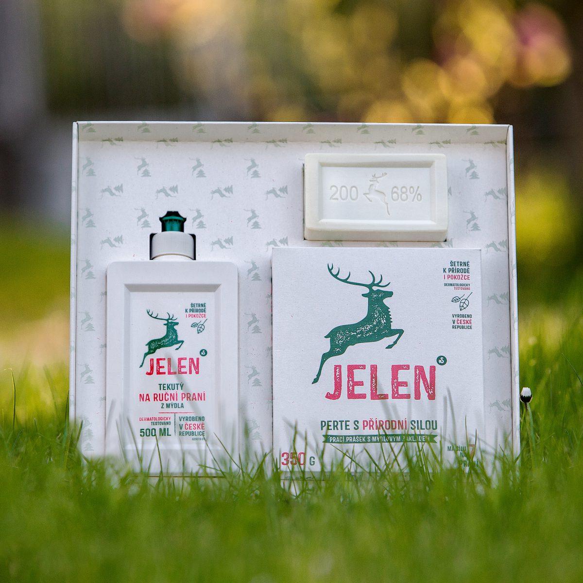 Dárkový set prostředků s Jelenem v novém designu