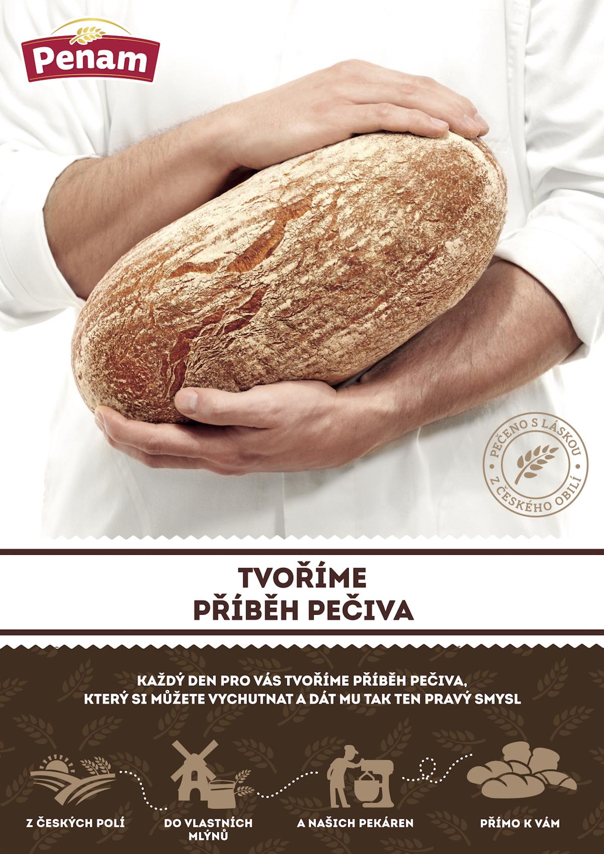 Nový klíčový vizuál pekárenské značky Penam