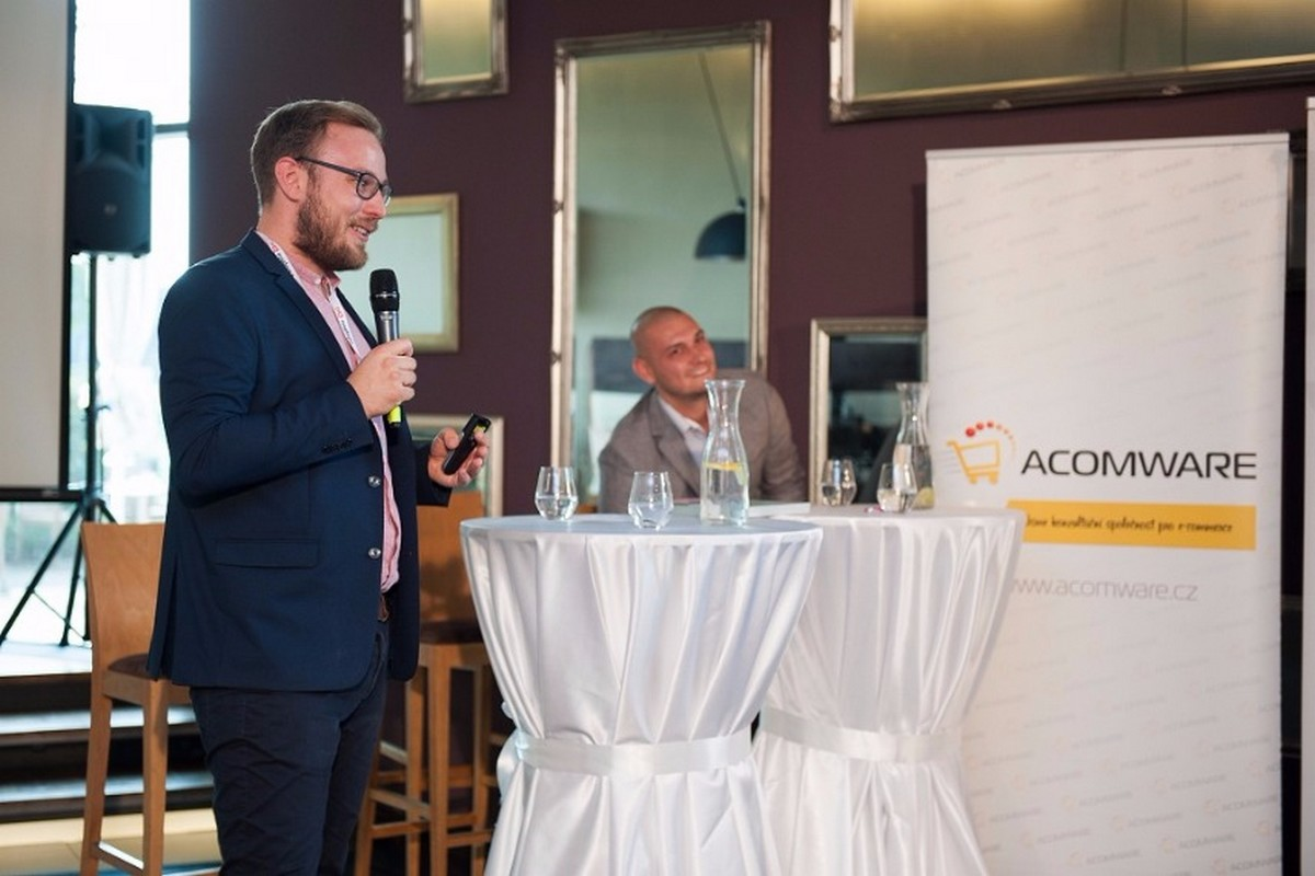 Karel Lyčka na konferenci E-shopista pořádanou firmou Acomware