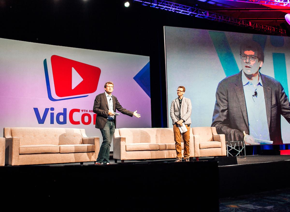 Otcové zakladatelé konference VidCon: John a Hank Greenovi. Foto: Martina Votrubová