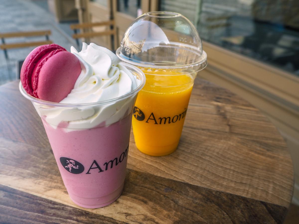 Mléčné zmrzlinové koktejly Amorino