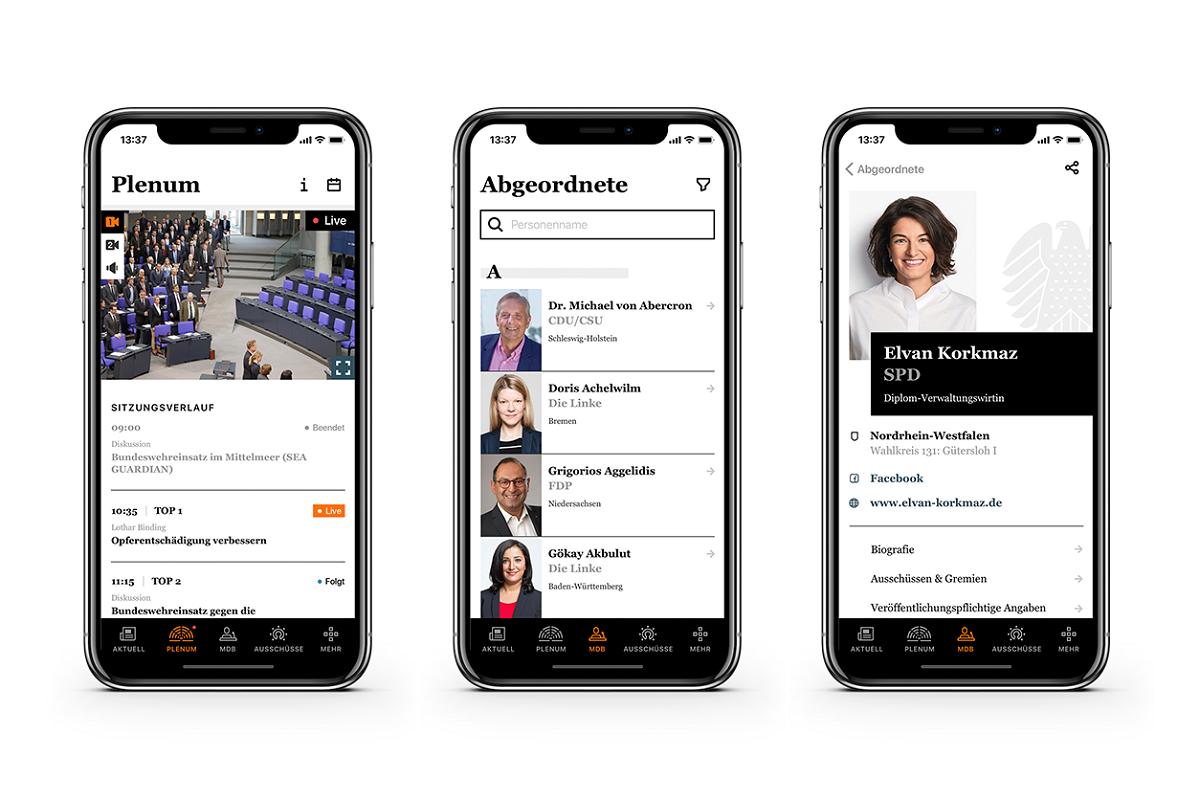 Aplikace pro Bundestag zobrazí všechny informace o poslancích i aktuality