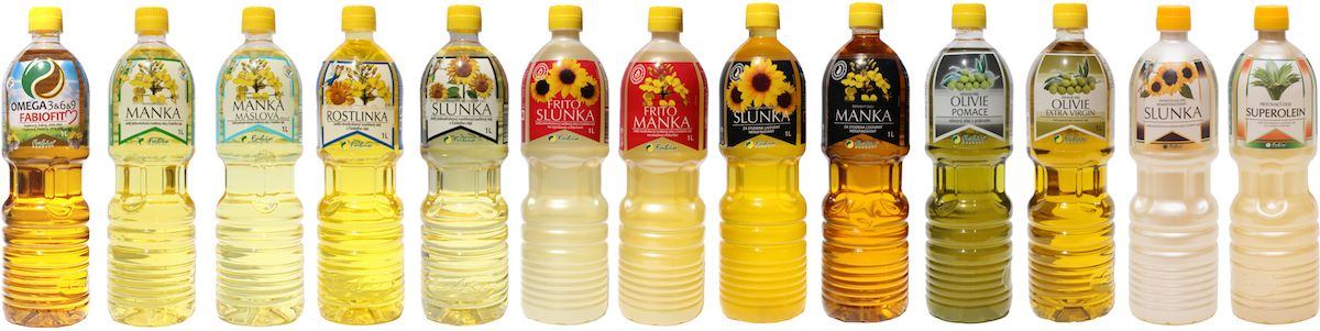 Kompletní portfolio rostlinných olejů Fabio produkt