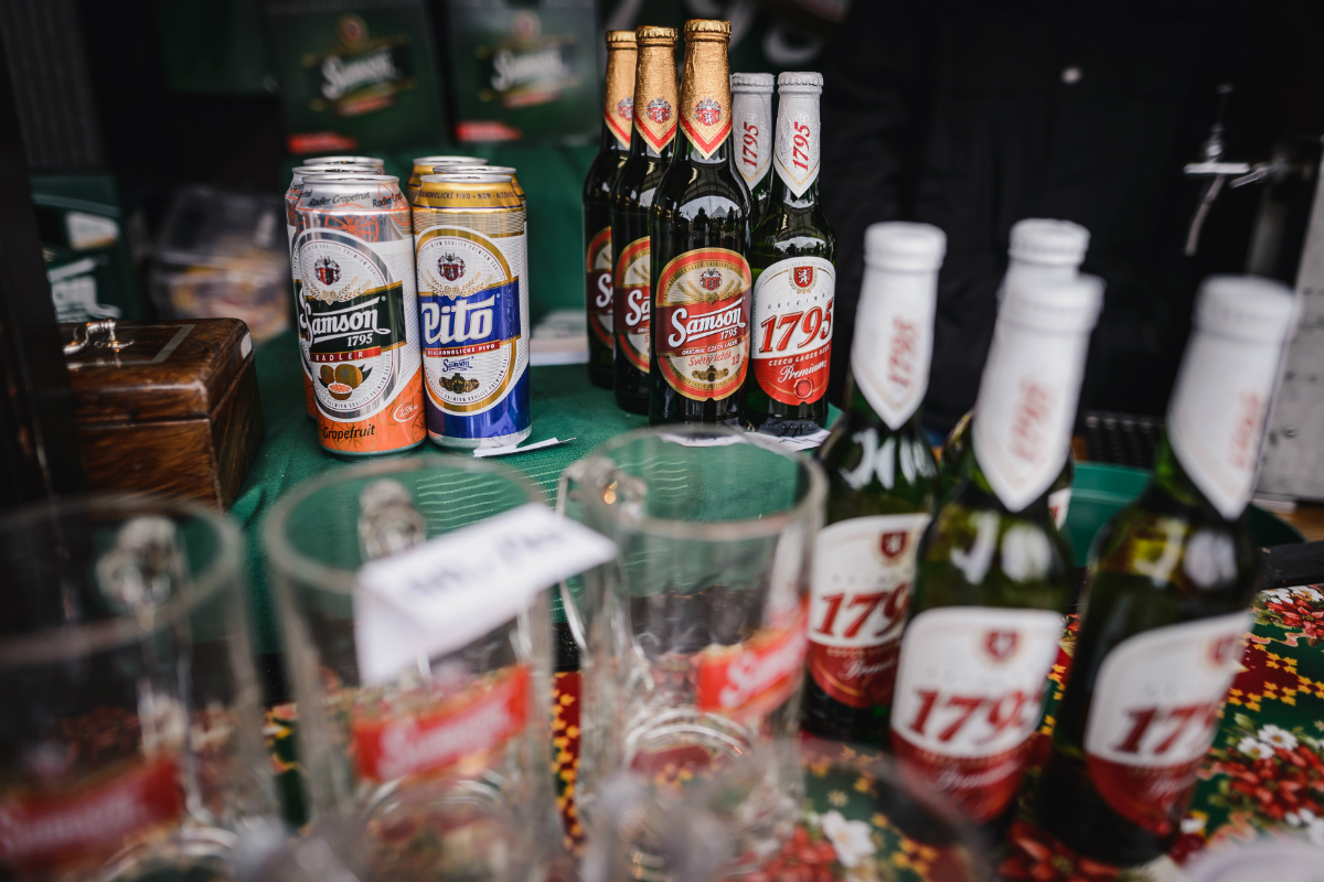 Produkce piva Samson