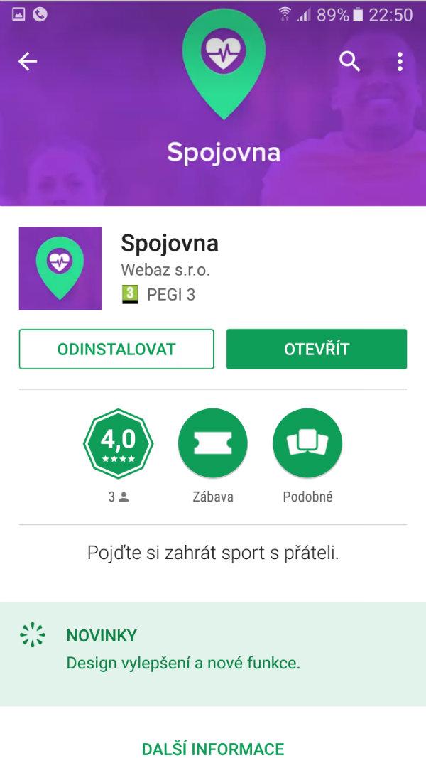 Spojovnu najdete zatím jen v Google Play.