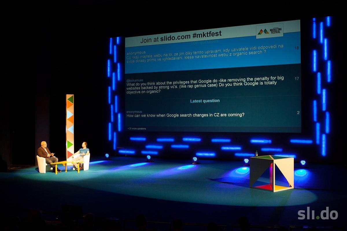 Pomocí Slida mohou posluchači na konferencích pokládat dotazy přednášejícím v reálném čase