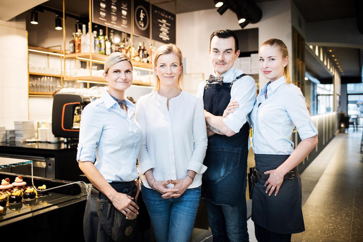 Iveta Fabešová se svým týmem z Rosetty